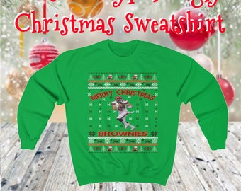 42351f5f Baker Mayfield Ugly Christmas Sweater Design Heavy Blend Crewneck Sweatshirt
