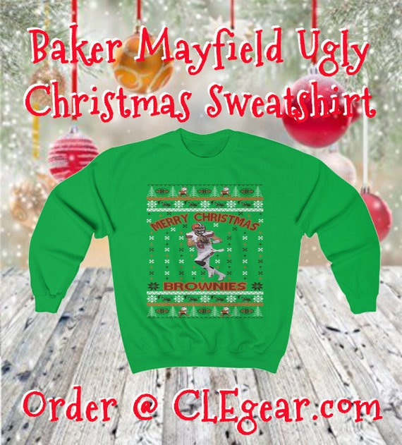 Baker Mayfield Ugly Christmas Sweater Design Heavy Blend Etsy