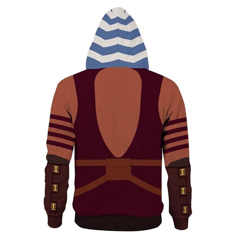 Ahsoka Tano Costume Star Cosplay Wars The Clone Wars Hoodie Hooded Sweatshirt
