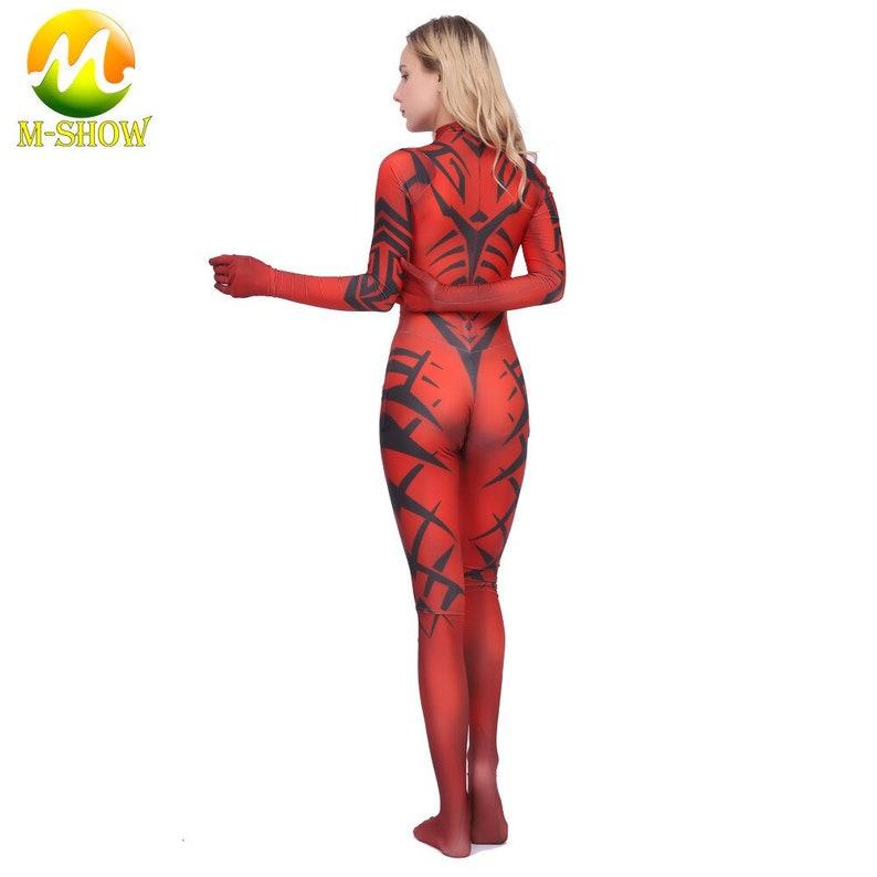 Star Wars Legacy Darth Talon Cosplay Costume Female Sith Fancy Suit Zentai Costume Halloween Costume Tights Bodysuit Women Kids