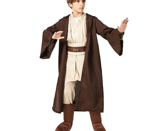 Boys Star Wars Jedi Warrior Movie Character Cosplay Party Clothing Kids Child Fancy Halloween Purim Carnival Costume