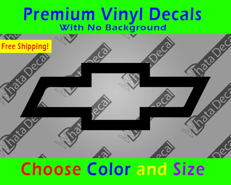 Chevrolet Bowtie Decal - Vinyl Chevy Bow tie Sticker - GM Racing Nascar  Truck