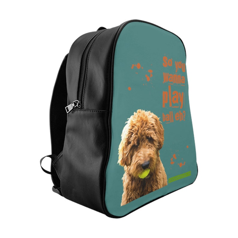 Cockapoodled Cockapoo Play Ball Backpack Bag