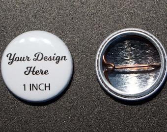 Guinea Lapel Pin Badge Engraved Personalised Box