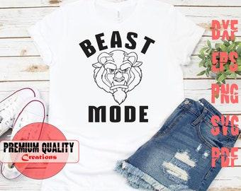 Beast Mode SVG - Mini Beast Mode SVG - Disney Beauty and the Beast SCG cutting file   5 type Svg/ dxf/ png/ eps/ pdf   PQC042