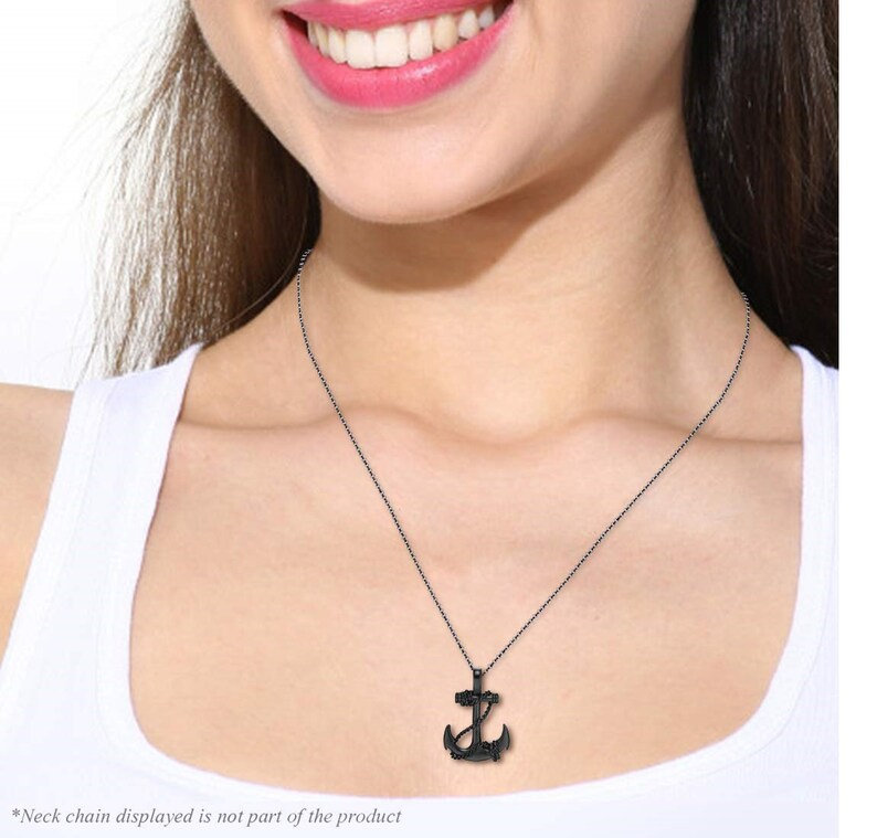 mens statement necklace Men Nautical Anchor Necklace Stainless Steel Pirate Pendant Necklace with 22 inch Chain wire rapped pendant gift
