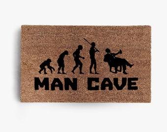 Man Cave Doormat, Coir Doormat, Welcome Mat, Funny Doormats, Hustle, Funny, Free Shipping