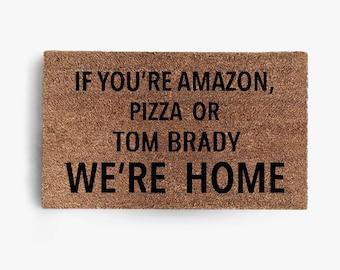 Amazon Pizza or Tom Brady Doormat, Coir Doormat, Tampa Bay, Buccaneers, Tom Brady, Free Shipping