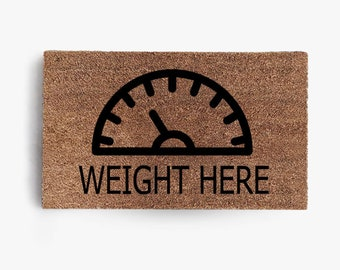Weight Here Doormat, Coir Doormat, Hustle, Welcome,  Fitness, Gym, Sexy, Free Shipping