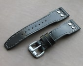 RARE BUCKLE WW2 Pilot Hand made leather watch strap for Apple iWatch 42-44 For watches with 24 mm lugs