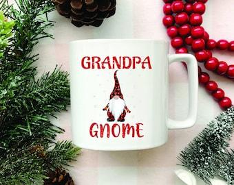 Gnome, White Coffee Mug, Coffee Lover, Grandpa gnome, Funny Mugs, Funny Sayings, Grandpa, grandma, grandma gnome mug