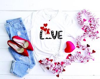 Gnome Valentines Shirts, Womens shirt, Free shipping, Love Shirt, Valentine Be Mine Shirt, Mom Valentine T-shirt, Valentines Day shirt