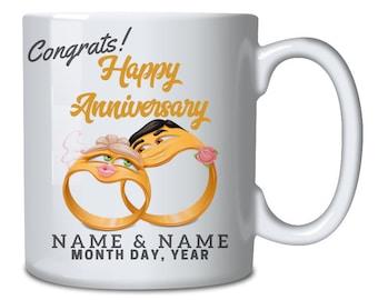 ee74c31a484 Wedding design mug | Etsy