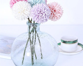 Artificial Flowers Chrysanthemum Flower Ball Bud Fake Flower Branch Home Decor For Wedding Home Vases Decoration  sc 1 st  Etsy : vases with fake flowers - startupinsights.org