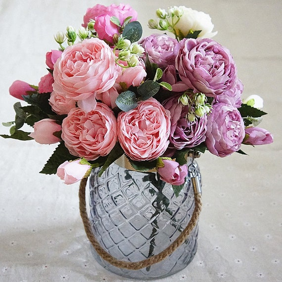 1 Bouquet  Artifical Rose Silk Flower Wedding Party Home Decoration Decor