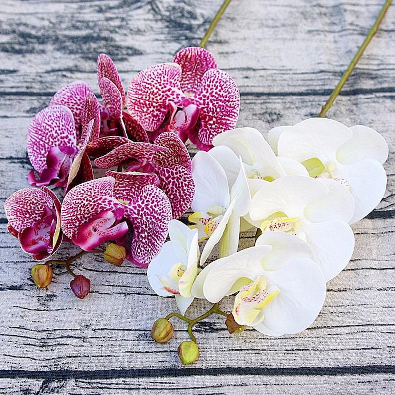 Artificial Fake Silk Flower Phalaenopsis Moth Orchid Home Garden Decoration 70cm