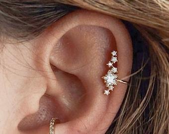 Star Ear Cuff No Piercing, cartilage ear cuff