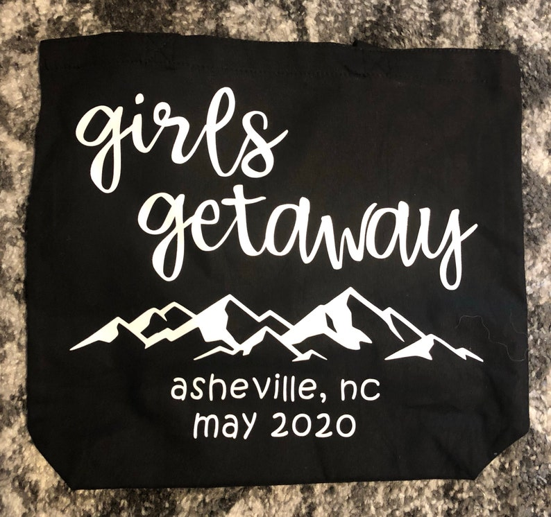 Mountain Vacation Tote Bag Girls Getaway Girls Trip