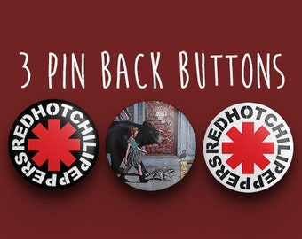 RHCP Button Pack - Red Hot Chili Peppers Band Pin Back Buttons - The Getaway  Pins Badges - 1.25 inches (31.75mm) 5571013bbb5e