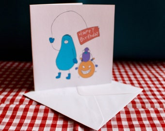 Happy Birthday Humorous Greeting Card 'Hopper Fun' | Funny Card | Weird | Gift For Him | Gift For Her