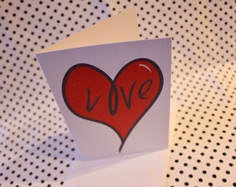 Valentine's Greeting Card 'Love Heart' | Love | Husband | Wife | Boyfriend | Girlfriend | Gift For Him | Gift For Her | |