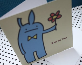 Valentine's 'Sweet Bunny' Greeting Card | Cute |Blank Card | Bunny | Love | Sweet | Girlfriend | Boyfriend | Gift For Him | Gift For Her