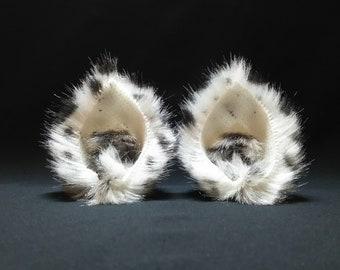 Snow Leopard Nekomimi ( beast cat ears ) - with hair clip - made in Japan