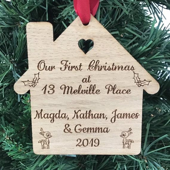 Personalised First Christmas Bauble Tree 1st Mr /& Mrs Couple Keepsake Gift Xmas