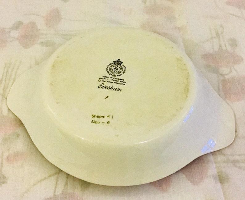 Royal Worcester Evesham Gold Gratin Dish