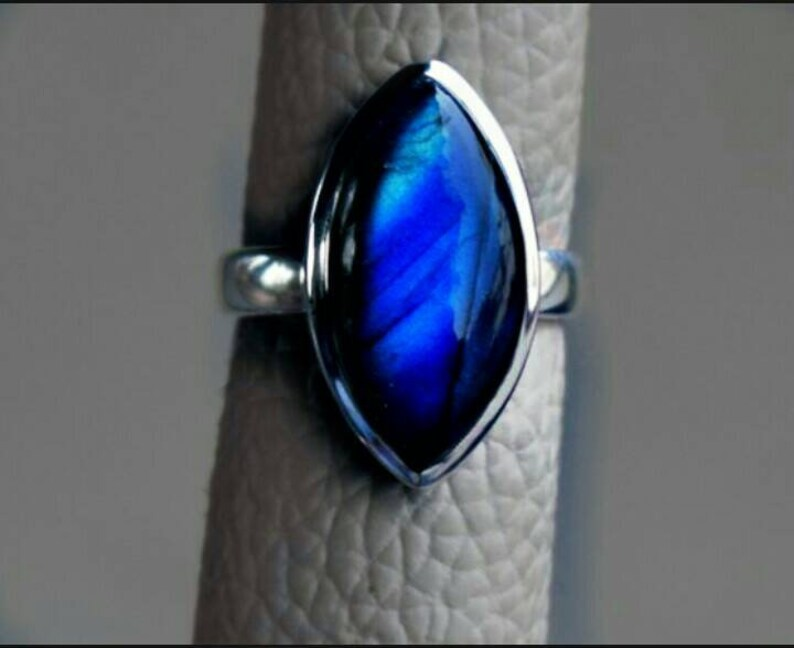 Gift For Mother, Natural Labradorite Ring in 925 Sterling Silver Silver Ring Labradorite Ring Sterling Ring