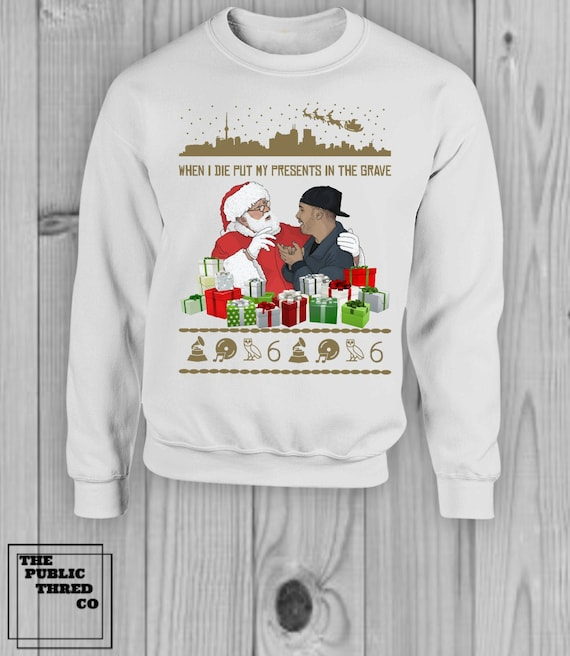 Drake Money in the Grave Christmas Sweater Ugly Music Rap Merry Christmas Happy Holidays Christmas Party unique gifts Toronto Raptors OVO