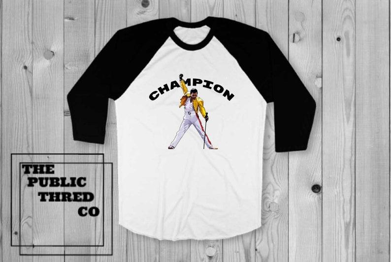 eb792ea810de Freddie Mercury Champion T-Shirt Best friend unique christmas | Etsy