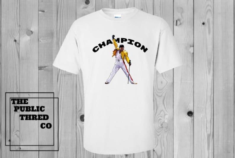 771a34bad Freddie Mercury Champion T-Shirt Best friend unique christmas | Etsy