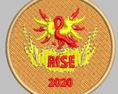 Phoenix Rising embroidere...