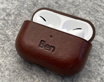 Personalised Apple AirPods PRO Case Protective PU Leather Cover, Personalised Valentines Day, gift for him, gift for her, 3rd anniversary