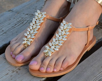 Wedding sandals Bridal sandals Leather   Etsy