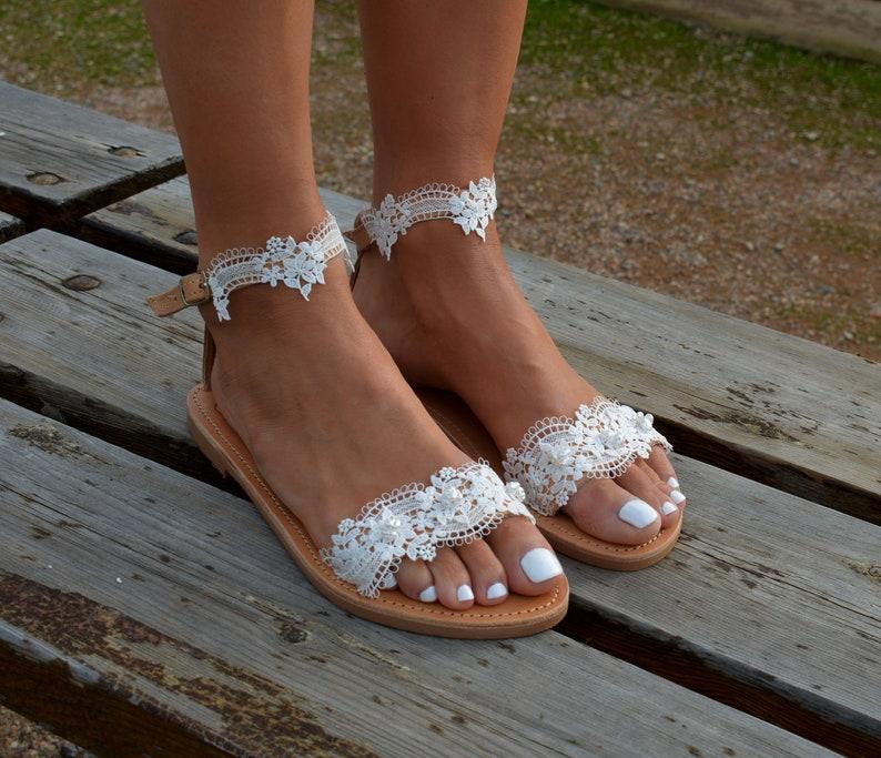 FLASH Sale White lace sandal, Bridal sandals, Wedding shoes, Pearl sandals, Wedding sandals, Romantic sandals, White lace shoe, White sandal
