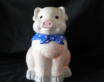 Mini Sign Everyday Decor COOKIE JAR COLLECTOR Mammy Cow Pig USA Ornament