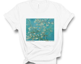 58c8444513 Van Gogh T-shirt, Almond Blossoms Print, Vincent Van Gogh Gifts, Aesthetic  Shirt, Art T-shirt Women, Floral T-shirt, Art Gifts, Cool T-shirt