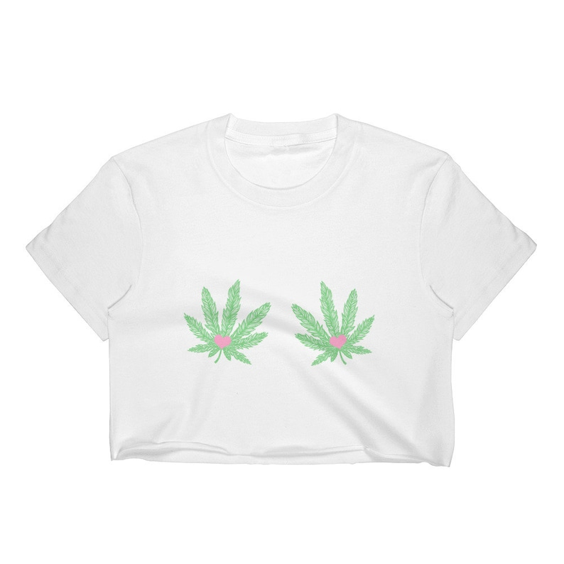 ddb9a53484ebc Marijuana Leaf Titties, Pot Leaf Boob Shirt, Boobies Shirt, Cannabis Shirt,  Crop Top Women, Weed Shirt Women, Stoner Girl, Festival Top