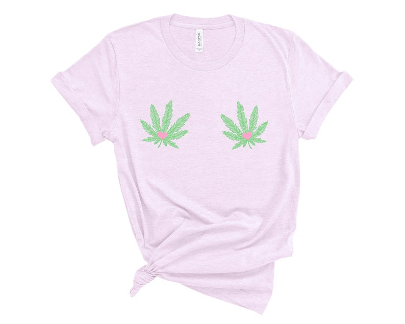 d618be9c6a0b2 Weed Titties Shirt, Cannabis Leaf Boob Shirt, Marijuana Gifts, Weed Shirt  Women, Free the Nipple, Marijuana Shirt