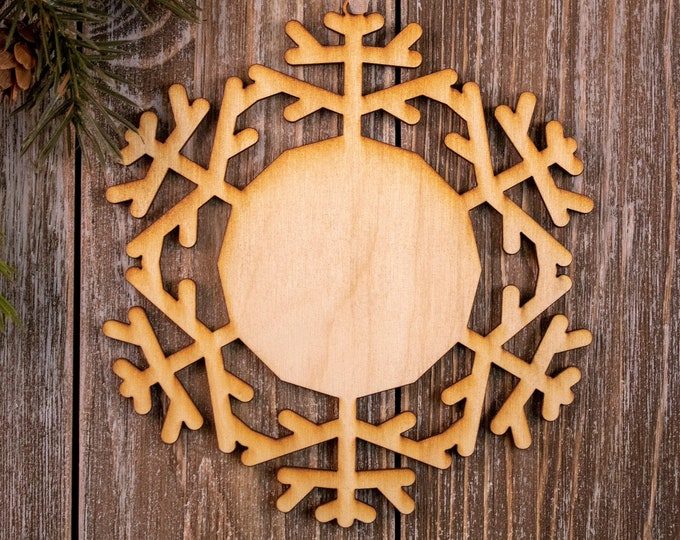 set of 6 rustic wood snowflake ornaments, snowflake Christmas ornament, DIY ornament, snowflake ornament, Christmas ornament, 104B