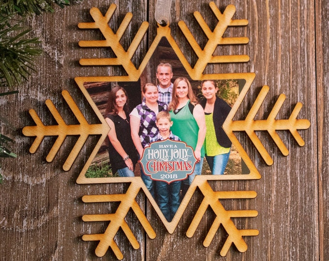 set of 6 rustic wood snowflake ornaments, snowflake Christmas ornament, photo ornament, snowflake ornament, Christmas ornament, 102R