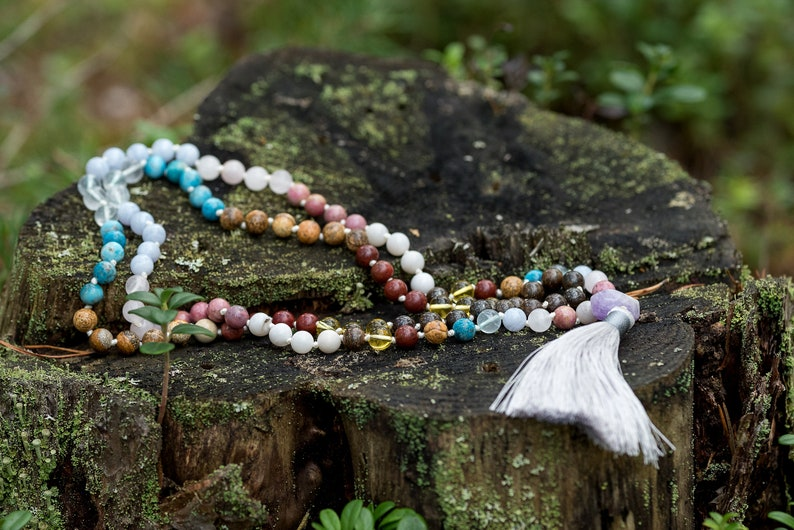 Therapy Meditation Mala CONSTANT MOVEMENT Mala Yoga Beaded Necklase Mala Necklace