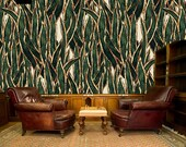 Exotic wallpaper, temporary wallpaper, leaf print, watercolor wallpaper, vintage wallpaper, cactus wallpaper, palm leaf, wallpaper roll