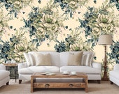 Crown floral wallpaper, drop leaf table, floral clipart, botanical print set, dried flower bouquet, boho wallpaper, temporary wallpaper