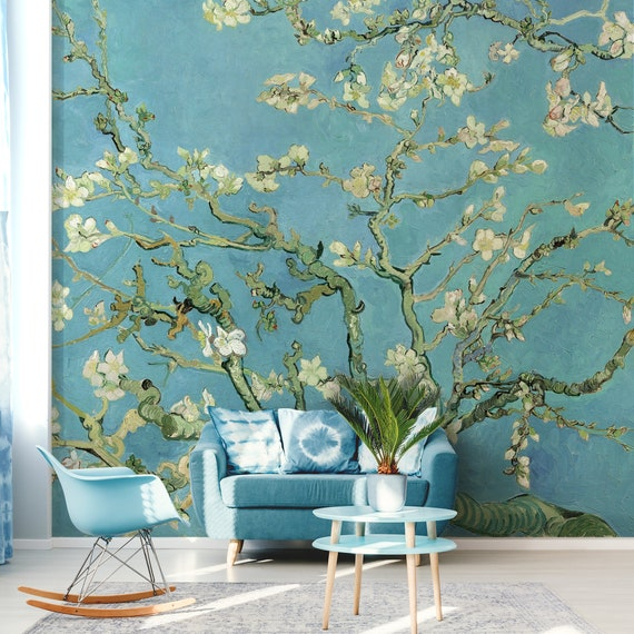 Almond Blossom By Van Gogh Wallpaper Peel And Stick Vintage Wallpaper Removable Temporary Wall Decor Chinoiserie Wall Mural