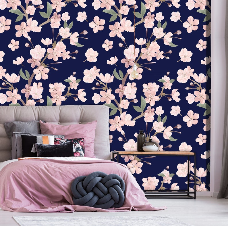 nursery wallpaper Nursery floral oil painting print wallpaper watercolor wallpaper boho wallpaper temporary wallpaper floral wallpaper