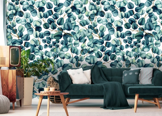 Wall Stickers Eucalyptus Plant Leaves Pattern Home// Room Wall-Decal Removable