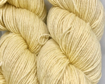 Goldenrod dyed Superwash Blue Faced Leicester Fingering Weight